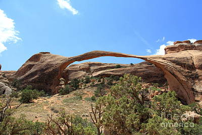 Photograph - Incredible Landscape Arch by Christiane Schulze Art And Photography