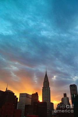 Photograph - Incredible New York Skyline And Sunset No. 7 by Miriam Danar