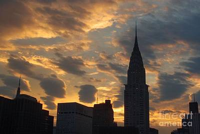 Photograph - Incredible Sunset No. 3 -  New York City Skyline by Miriam Danar