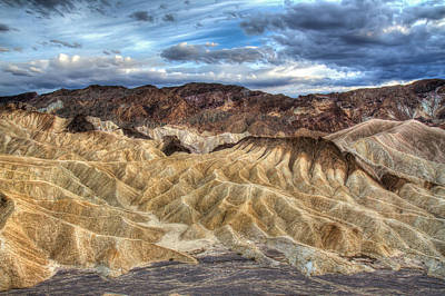 Photograph - Incredible Zabriskie Point In Death Valley by Pierre Leclerc Photography