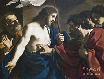 Incredulity Photograph - Incredulity Of St Thomas By Il Guercino by Roberto Morgenthaler
