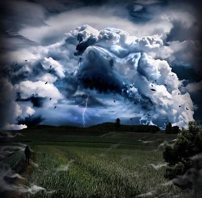 Thunderstorm Digital Art - Incubus by Alessandro Della Pietra