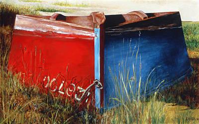 Amagansett Painting - Indecision by Lorraine LaVista