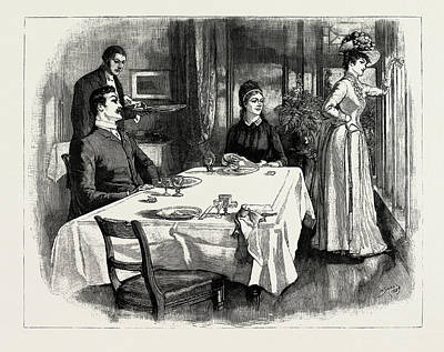 Indeed, The Young Lady Was So Rude As To Leave The Table Art Print by Litz Collection