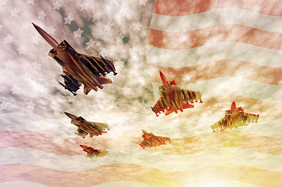 Jet Star Digital Art - Independence Day by Carol and Mike Werner