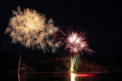 Photograph - Independence Day Fireworks by Barbara West