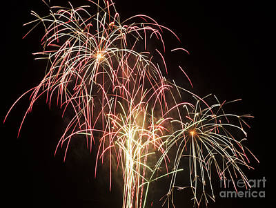 Independence Day Fireworks Art Print by Philip Pound