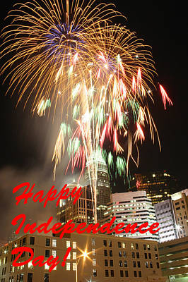 Photograph - Independence Day Greeting 1 by Joseph C Hinson Photography