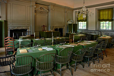 1776 Photograph - Independence Hall In Philadelphia by Olivier Le Queinec