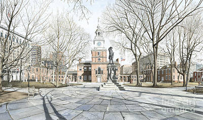 Independence Hall Art Print by Keith Mountford