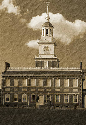 Photograph - Independence Hall by Michael Porchik