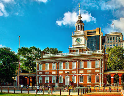 Independence Hall Art Print by Nick Zelinsky