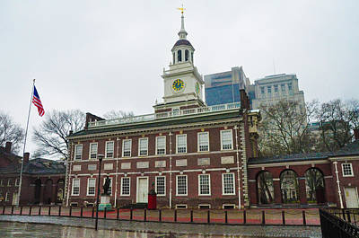 Philadelphia Photograph - Independence Hall On Chestnut Street by Bill Cannon