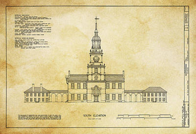 Phillies Digital Art - Independence Hall - Philadelphia by Daniel Hagerman