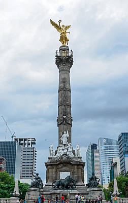 Photograph - Independence Monument Mexico City by Marek Poplawski