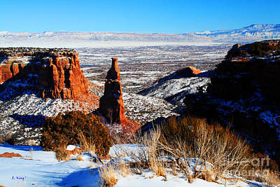 Photograph - Independence Rock In The Snow by Roena King