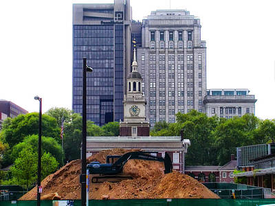 Independence Square - Under Construction Print by Bill Cannon