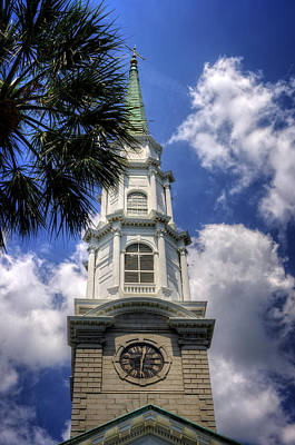 Photograph - Independent Presbyterian Church Steeple by Greg and Chrystal Mimbs