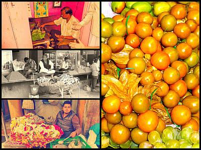 India And Fruits  Art Print by Girish J