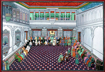 Fine Art India Painting - India British Reception by Granger