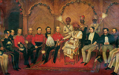 Raj Painting - India Durbar, 19th Century by Granger