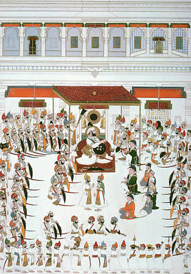 Fine Art India Painting - India Durbar Festival by Granger