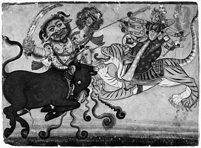 India Durga, C1700 Art Print