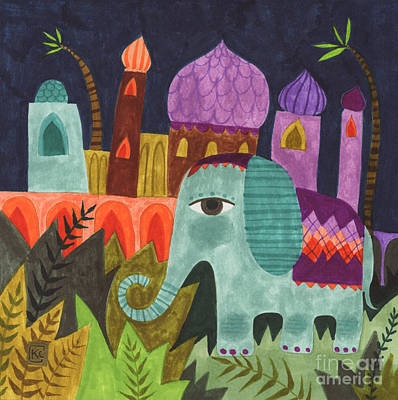 India Elephant Original by Kate Cosgrove