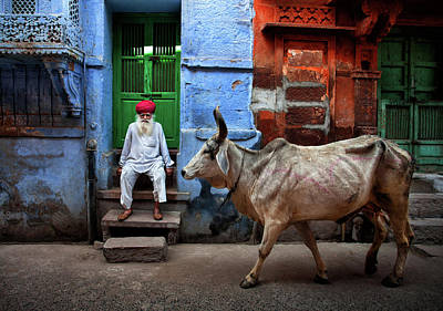 Town Photograph - India by Fadhel Almutaghawi