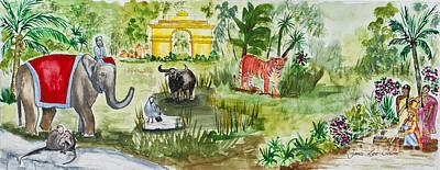 India Friends Art Print