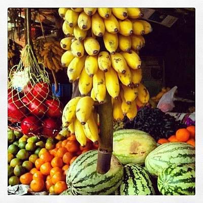 Banana Photograph - India #fruit #bananas #watermelon #india by Marina Boitmane