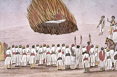 Pyre Painting - India Funeral Pyre by Granger