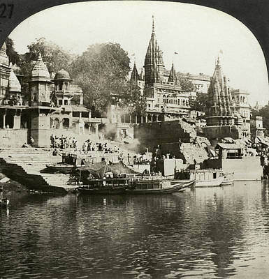 Cremation Ghat Photograph - India Ganges, C1920 by Granger