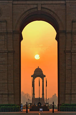 Arches Memorial Photograph - India Gate, A War Memorial In New Delhi by Adam Jones