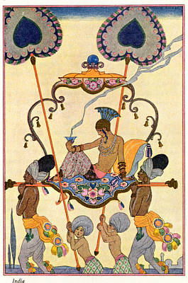 Stencil Art Painting - India by Georges Barbier