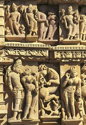 Hindu Mythology Photograph - India. Khajraho. Jain Temple by Everett