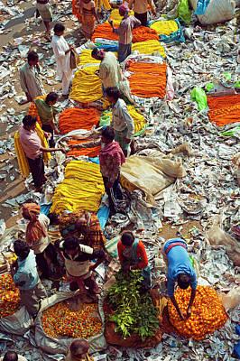 Wholesale Photograph - India, Kolkata, Mullik Ghat Flower by Anthony Asael