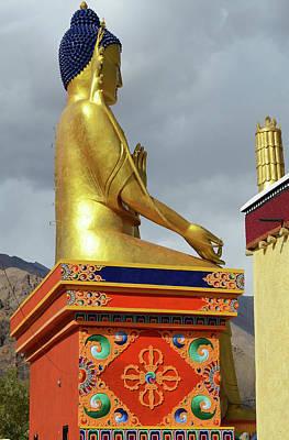 India, Ladakh, Likir, Golden Buddha Art Print by Anthony Asael