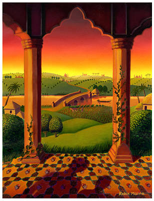 Painting - India Landscape by Robin Moline