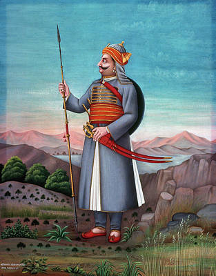 Fine Art India Painting - India Nobleman by Granger
