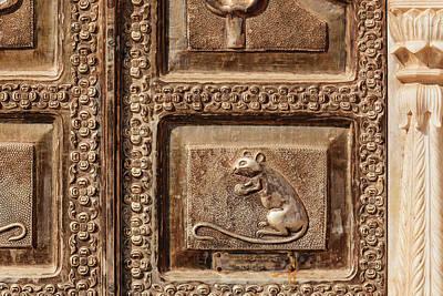 Durga Photograph - India, Rajasthan, Bikaner, Karni Mata by Alida Latham