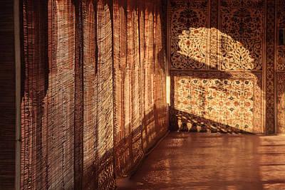 Mural Photograph - India, Rajasthan, Bikaner, Sunlight by Alida Latham