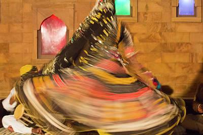 Veiled Woman Photograph - India, Rajasthan, Jaipur, Folk Dancers by Emily Wilson