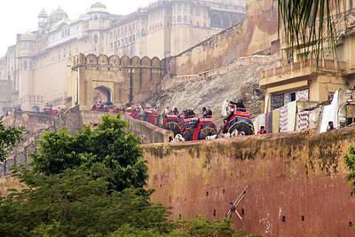 Jaipur Photograph - India, Rajasthan, Jaipur, Ride by Emily Wilson