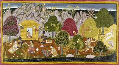Literature Painting - India Ramayana, C1650 by Granger
