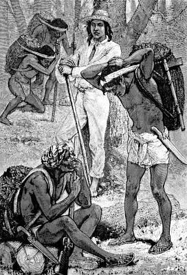 Slaves Photograph - India Rubber Gatherers by Bildagentur-online/tschanz
