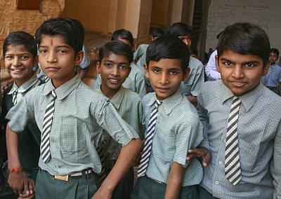 Photograph - India School Boys by Jo Ann Tomaselli