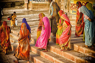 Photograph - India  The United Colors Of Varanasi by Neville Bulsara