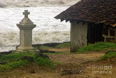 Photograph - India  Wayside Cross Anjuna  Goa by Neville Bulsara