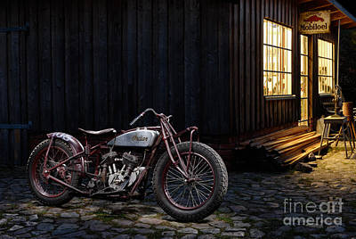 Indian 101 Scout Bobber Art Print by Frank Kletschkus